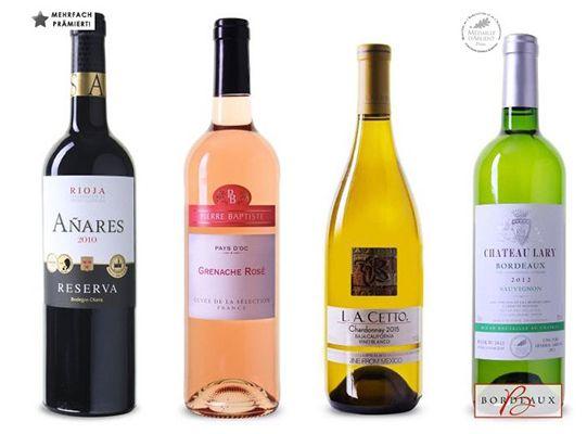 Inventur bei Weinvorteil   z.B. 6 Flaschen Pluvium Premium Selection für 21,09€