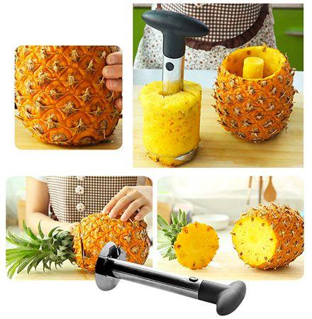 Praktischer Ananas Schneider aus Edelstahl für nur 0,90€(statt 3€)