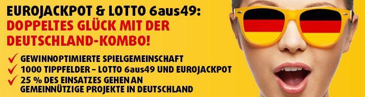 Lottoland Neukunden: 1 Tipp 6aus49 + 5 Rubbellose Knack das Sparschwein + 1 Tipp Eurojackpott für 0,49€
