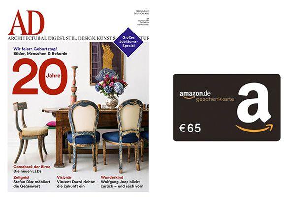 10 Ausgaben Architectural Digest für eff. 3€