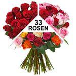 33 Rosen in Überraschungsfarbe für 20,94€