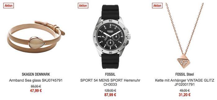 20% auf ausgewählte Uhren & Schmuck   z.B. Fossil Herrenuhr für 88€ (statt 110€)