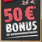 Vodafone Flat 400 mit 100 Frei-Minuten + 400MB für 2,95€ mtl. + 50€ Guthaben bei Rufnummermitnahme