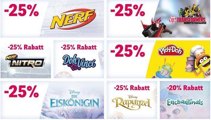 ToysRUs Aktionen   z.B. 25% Rabatt auf Play Doh oder Nerf Nitro Artikel