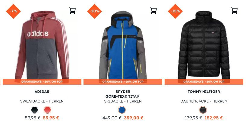 Winterjacken Sale bei Sportscheck + 20% Extra Rabatt   z.B. The North Face Steppjacke für 147,16€ (statt 179€)