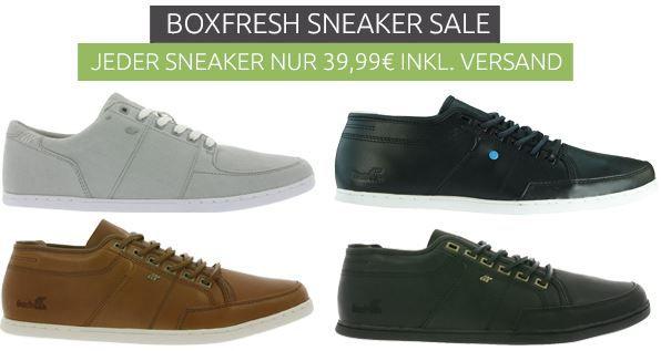 Boxfresh Herren Sneaker statt 95€ für 39,99€   Restgrößen