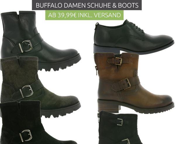 Buffalo Damen Echtleder Schuhe & Stiefel ab 39,99€