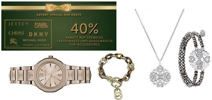 Michael Kors, Burberry, DKNY, Marc Jacobs und Karl Lagerfeld heute mit bis zu 40% Rabatt auf Uhren und Schmuck