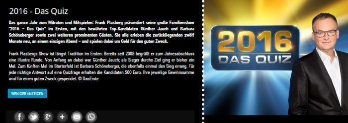 """Freikarten für """"2016   Das Quiz"""" am 15. Dezember (Hürth)"""