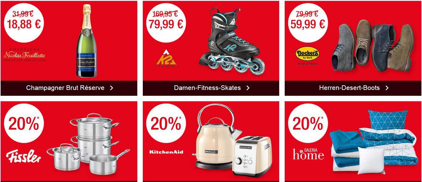 Bis Mitternacht! Galeria Kaufhof: SUPERSALE mit bis zu 52% Rabatt   z.B. auf Kitchen Aid, Uhren, Schmuck ...