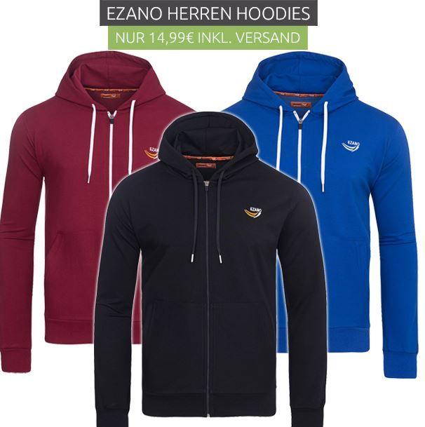 Ezano Herren Hoodies für je 14,99€ (statt 30€)