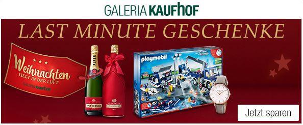 Galeria Kaufhof Last Minute Geschenke: 20% Rabatt auf Playmobil, WMF und mehr
