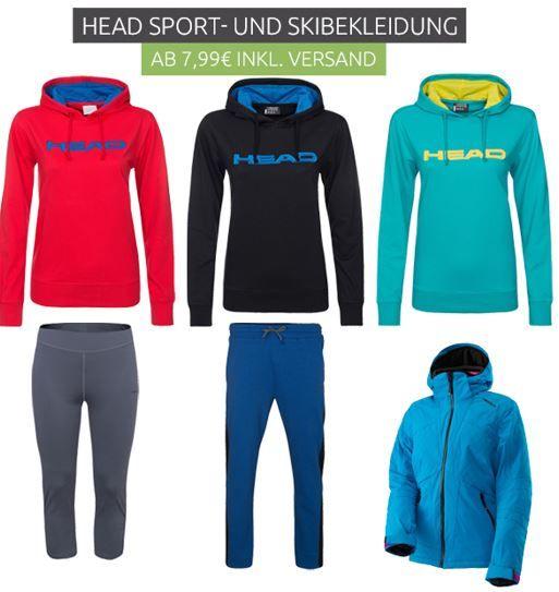 Head Sport und Skibekleidung ab 7,99€