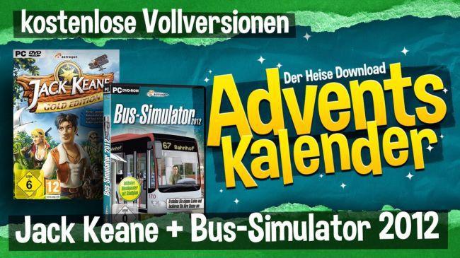 Heise Adventskalender Spiele Nur heute: 2 PC Spiele gratis bei McGame