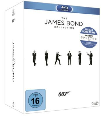 James Bond Collection 2016 (DVD/Blu Ray) ab 75€