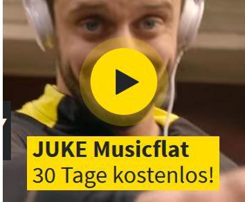 Kostenlos: JUKE Musikflat für 3 Monate gratis testen   und andere kostenlose Musik Dienste
