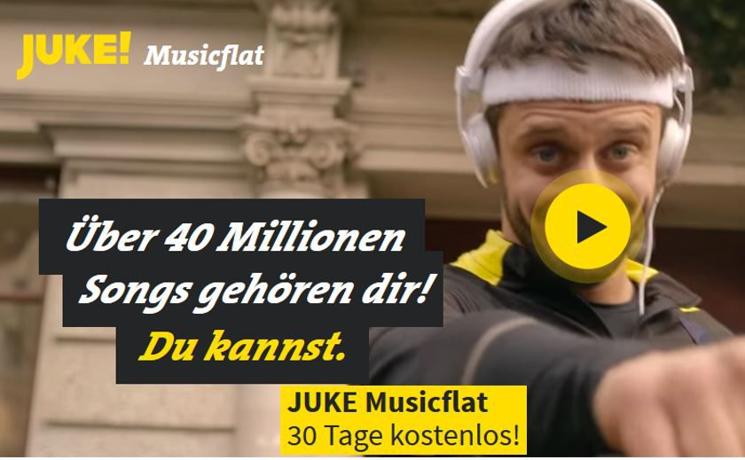 Kostenlos: JUKE Musikflat für 3 Monate gratis   und andere kostenlose Musik Dienste