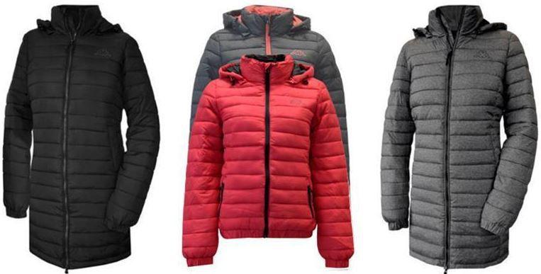 Kappa Damen und Herren gefütterte Winter Jacken für je 26,95€