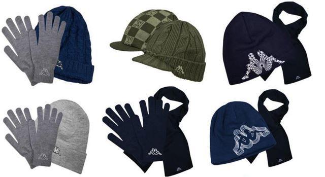 Kappa 2er Pack Winter Set: Schal, Beanie oder Handschuhe für 9,95€