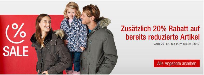 Galeria Preiskracher heute: 20% Rabatt auf bereits reduzierte Damen , Herren , Kinder , Sportbekleidung und Schuhe