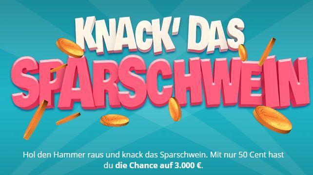 Knack das Sparschwein Vorbei! 3 Rubbellose gratis bei Lottohelden (Neu  und Bestandskunden)
