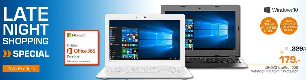 LENOVO ideapad 100S   11,6 Notebook + Office 365 Personal für nur 179€