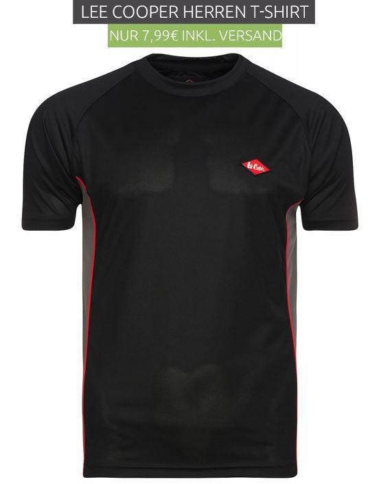 Lee Cooper Herren T Shirts in Schwarz für nur 7,99€