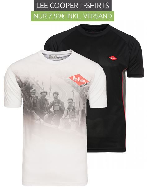Lee Cooper Performance Workwear Herren T Shirt für je 4,99€