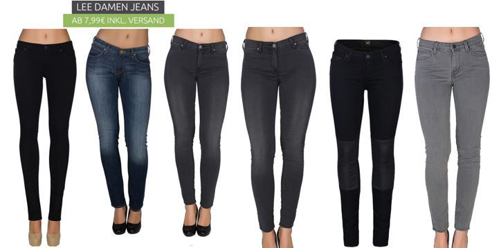 Lee Damen Jeans Sale   z.B. Lee Scarlett Skinny für 7,99€ (statt 45€)