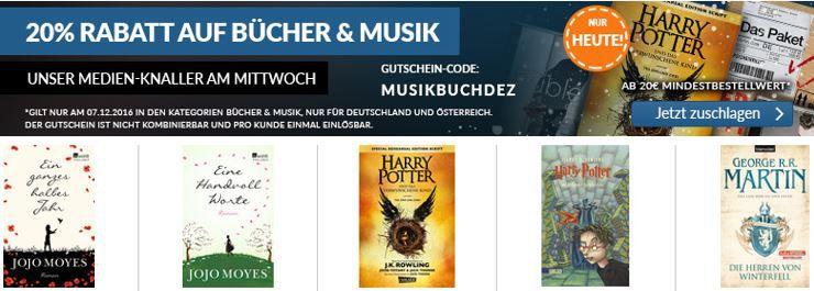 MUSIKBUCHDEZ ReBuy mit 20% Rabatt auf Bücher und Musik!