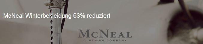 McNeal McNeal Winterbekleidung mit 63% Rabatt und andere aktuelle Zengoes Aktionen