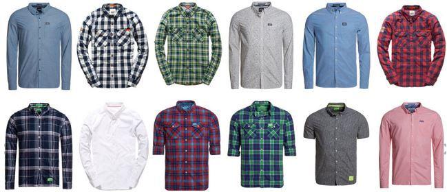 Neue Herren Superdry hemden Superdry Herren Hemden   neue Modelle für je 22,95€