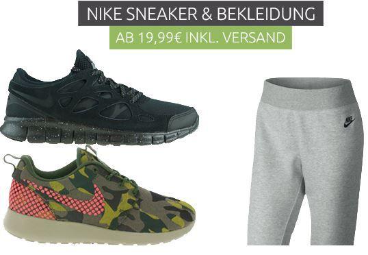 Nike Sneaker und Bekleidung Nike Restposten Sale ab 19,99€ bei Outlet46