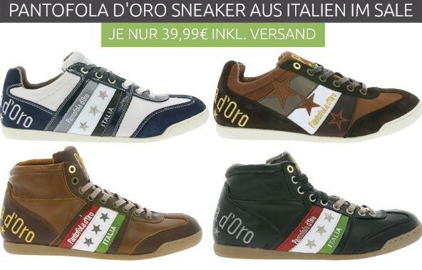 Pantofola DOro   Leder Sneaker statt 85€ für 39,99€