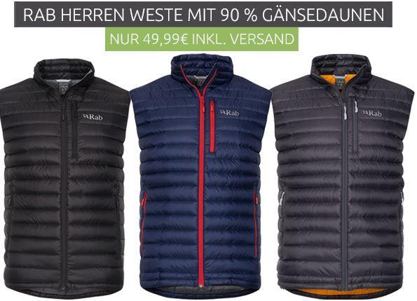 RAB Herren Daunen Weste für je 49,99€