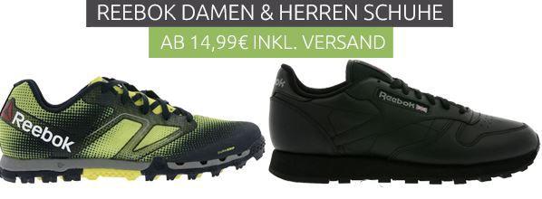 Reebok Schuh Sale Outlet46: Reebok Schuhe für Damen und Herren bereits ab 14,99€