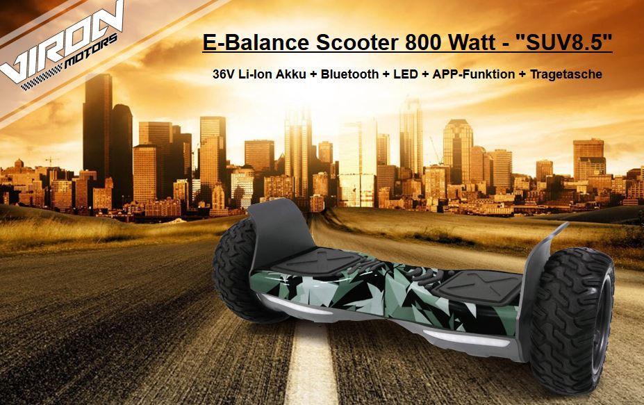 Viron SUV 8.5   2 x 400W Hoverboard für 299€