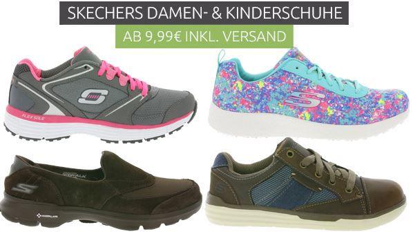 Sketchers Sneaker für Damen und Kinder ab 9,99€ (Restgrößen)