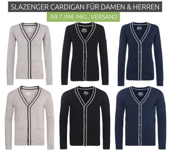Slazenger Slam Cardigan Damen und Herren Strickjacke statt 28€ für nur 7,99€