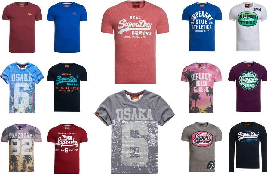 Superdry neu Superdry   Herren T Shirts neue Modelle für je 13,95€