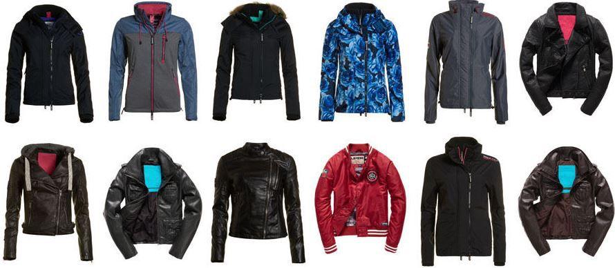 Superdry Damen Jacken   div. Modelle für je 39,95€