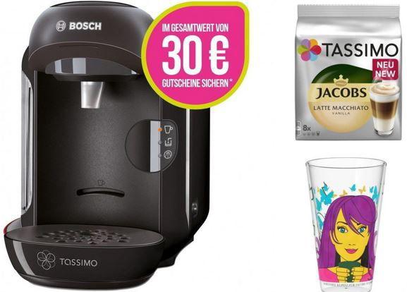 Bosch Tassimo Vivy + 30€ Gutschein + Ritzenhoff Sammelglas + Jacobs TDiscs für 33€
