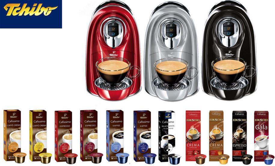 TCHIBO Cafissimo COMPACT Bundle TCHIBO Cafissimo COMPACT Kaffeemaschine + 110 Kapsel für 39,99€