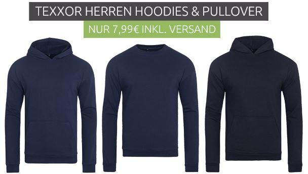 teXXor Wyk Herren Hoodies u. Sweatshirts für je 7,99€