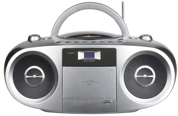 Terris Boombox RRC 223 / 243   Stereo Radio  Kassettenrecorder CD MP3 für 26,90€