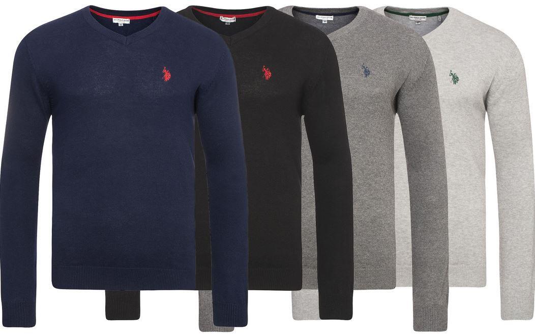 U.S. POLO ASSN. V Neck Sweater U.S. POLO ASSN. Herren Rundhals Sweater für je 24,99€