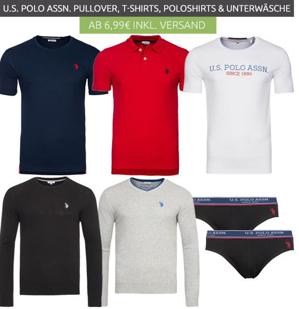 U.S. Polo Assn. Pullover, Poloshirts & T Shirts ab 9,99€