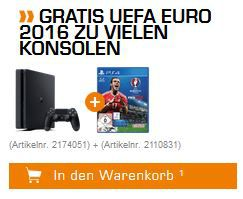 UEFA Gratis PlayStation 4 Slim 1TB + Fifa 17 für nur 222€