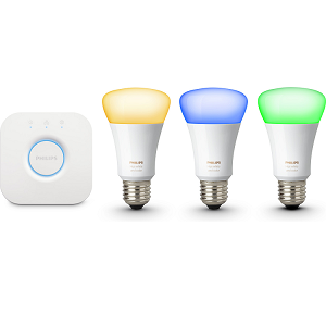 Philips Hue Starterkit (4. Generation)   3 E27 LED 10W + Bridge für 99€ (statt 131€)