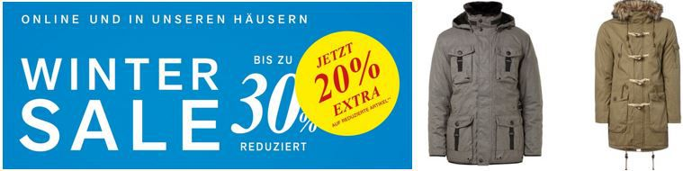 Winter Sale PC Peek & Cloppenburg Winter Sale mit bis zu 30% Rabatt + 20% Extra Rabatt